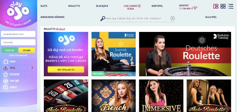 Play Ojo Live Casino