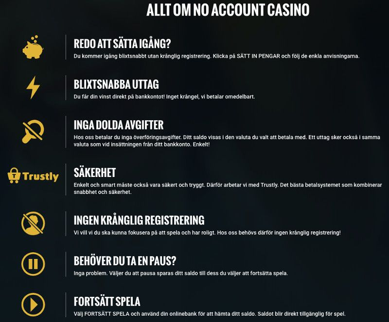 Allt om No Account Casino