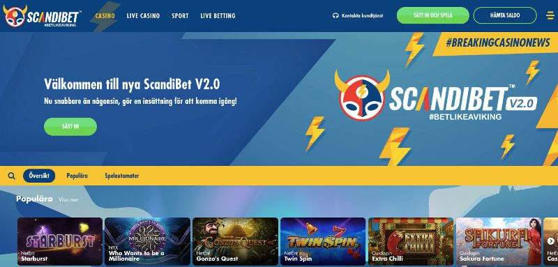 Scandibet screenshot