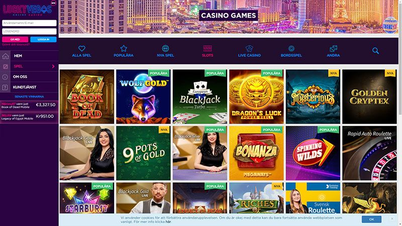 lucky vegas slots screenshot