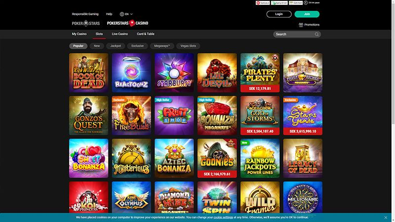 pokerstars slots screenshot